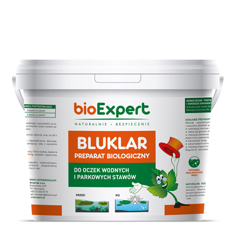 bioExpert Opakowanie preparatu BLUKLAR 3kg przeznaczonego do oczyszczania oczek wodnych i stawów jpeg
