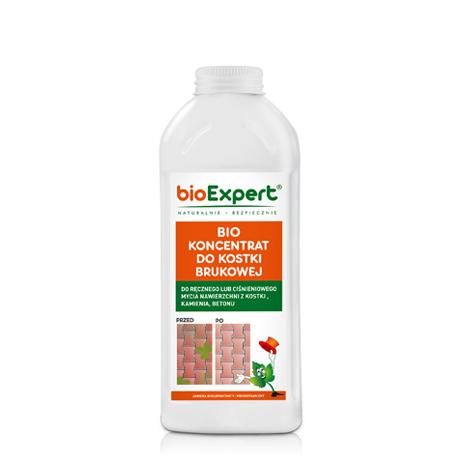 Opakowanie 1 l. BIO Koncentrat do mycia kostki brukowej.Biologiczny środek do mycia kostki brukowej, tradycyjnie lub myjką. Bezpieczny dla ludzi, zwierząt i roślin.Usuwa zanieczyszczenia organiczne oraz zapachy. Marka BioExpert.