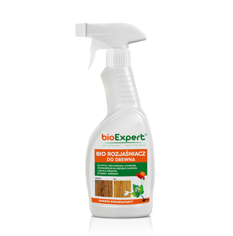Opakowanie 500 ml. BIO Rozjaśniacz do drewna. Marka bioExpert.
